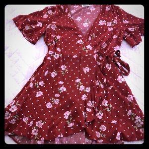 Show Me Your Mumu™ Evelyn Mini Wrap Dress.